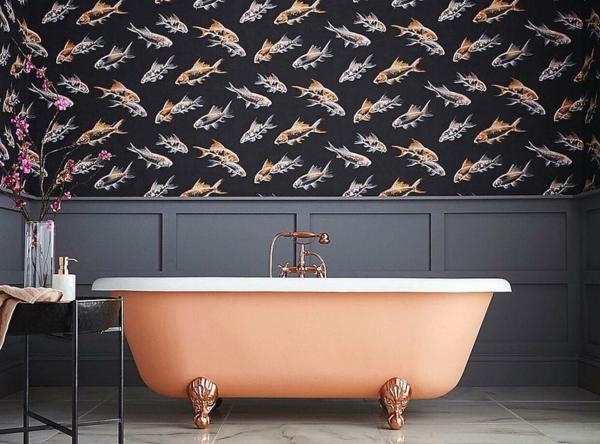 papier peint tendance 2019 motifs animaux poissons