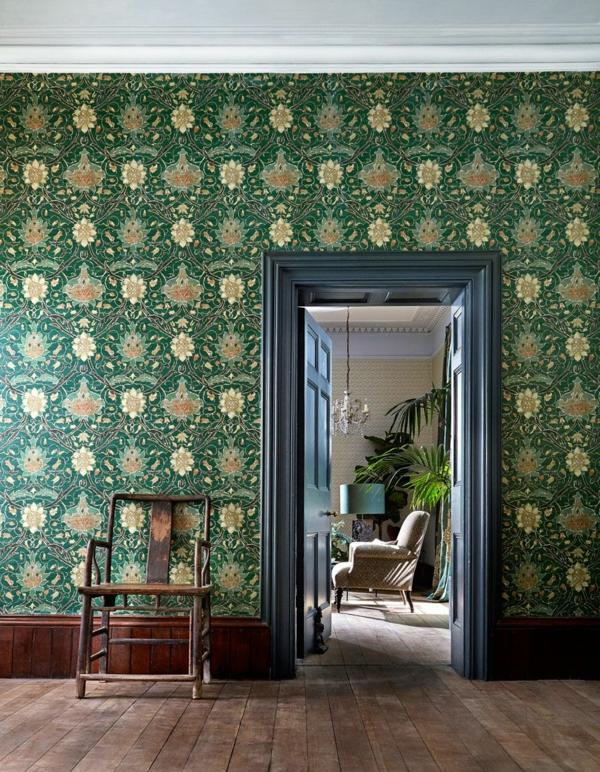 papier peint tendance 2019 motifs floraux