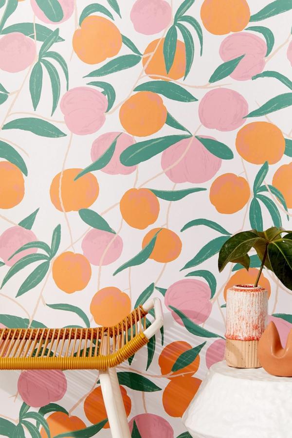 papier peint tendance 2019 motifs végétaux fruits
