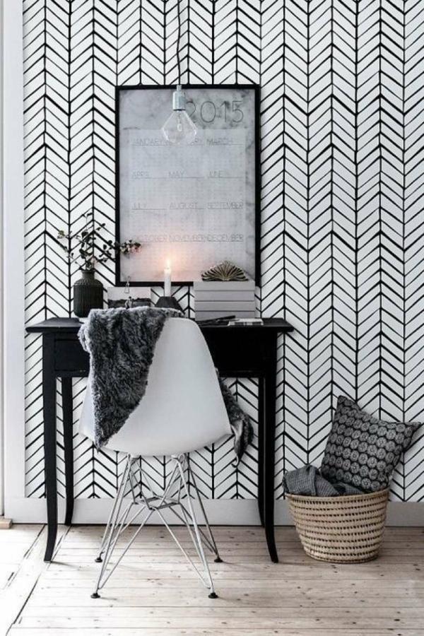 papier peint tendance 2019 style scandinave motifs graphiques