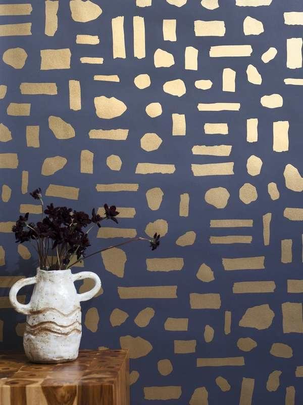 papier peint tendance 2019 touches métalliques