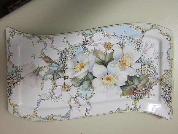 peinture sur porcelaine art décoratif