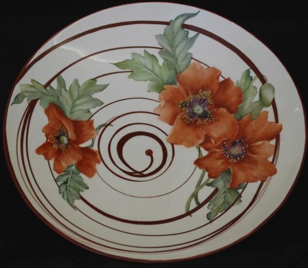 peinture sur porcelaine grandes fleurs