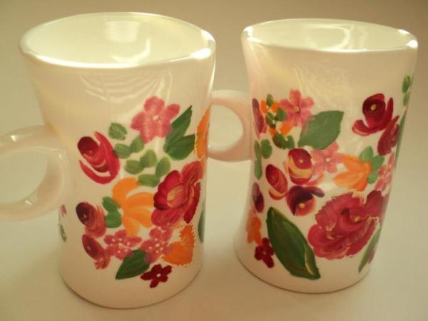 peinture sur porcelaine jolis gobelets