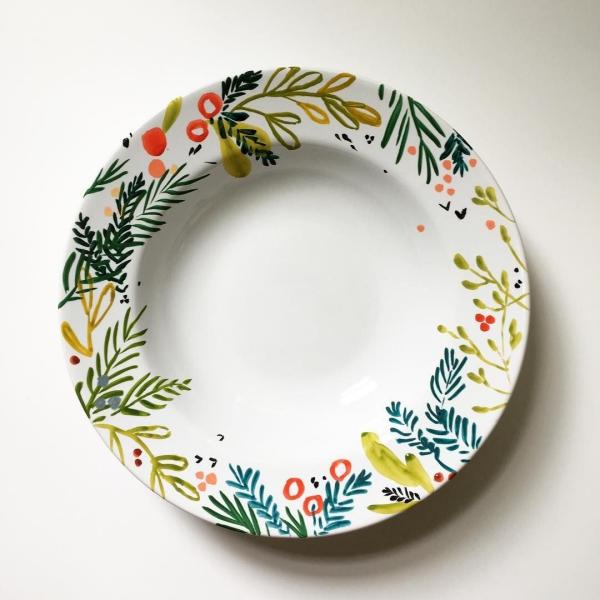 peinture sur porcelaine simple décoration