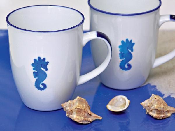 peinture sur porcelaine sujet maritime