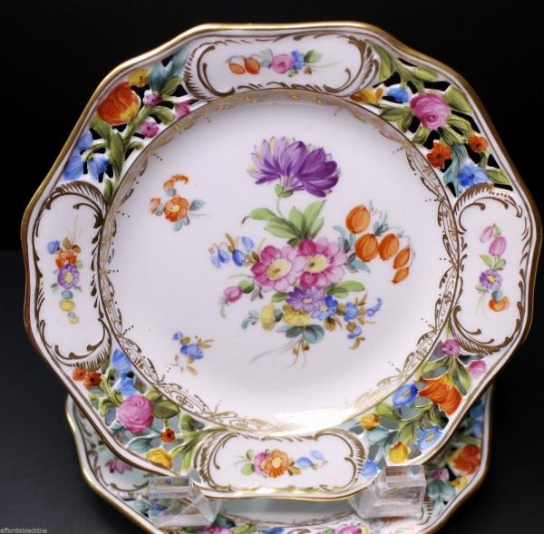 peinture sur porcelaine vaisselle de luxe