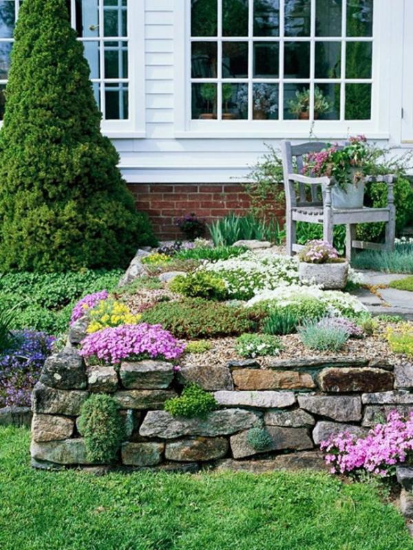 plante rocaille maison et jardin intégrés