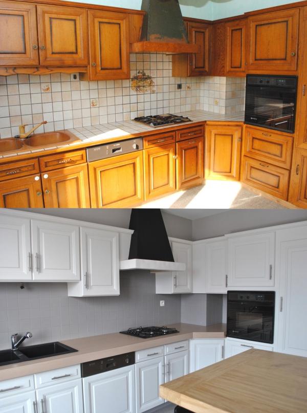 relooker meuble cuisine cuisine rustique