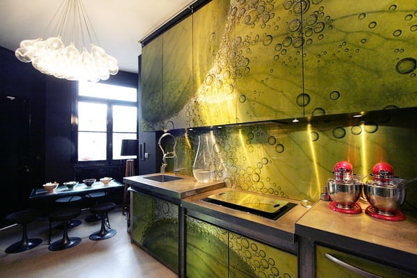 relooker meuble cuisine de l'adhésif