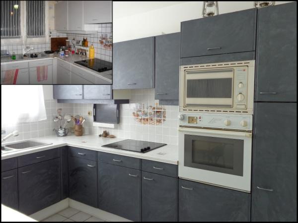 relooker meuble cuisine du blanc au gris