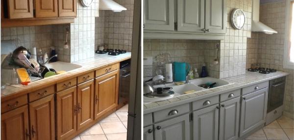 relooker meuble cuisine encore du gris