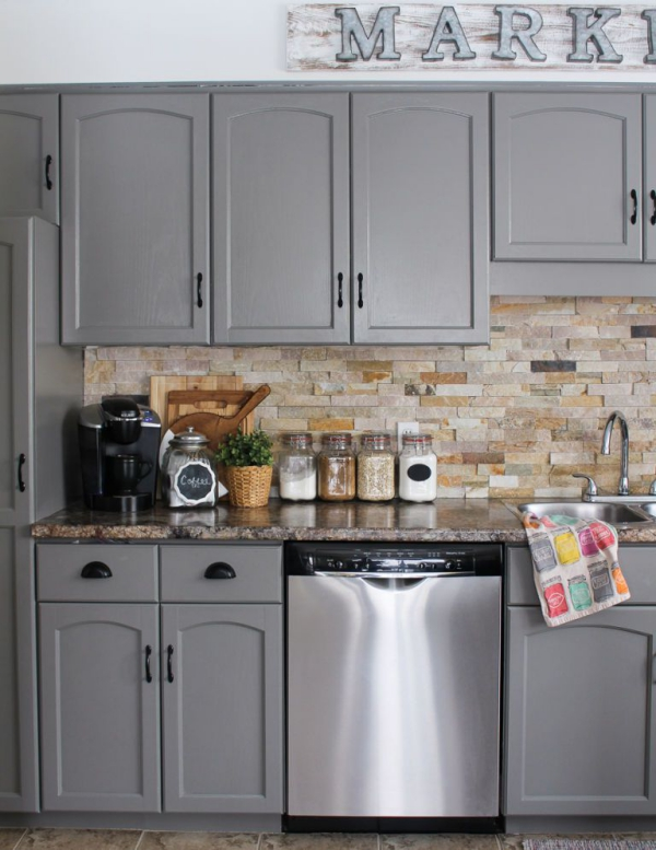 relooker meuble cuisine le gris relooke