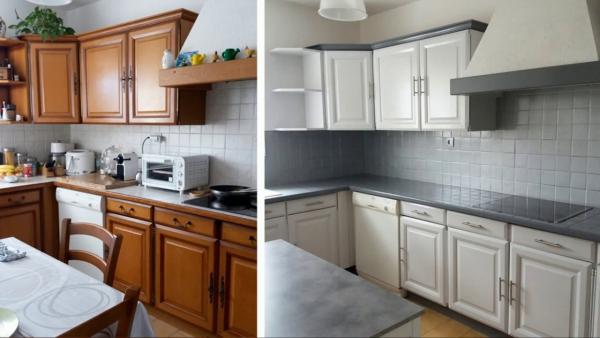 relooker meuble cuisine peindre les meubles