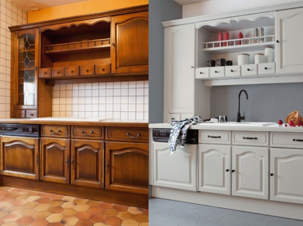 relooker meuble cuisine peinture en blanc