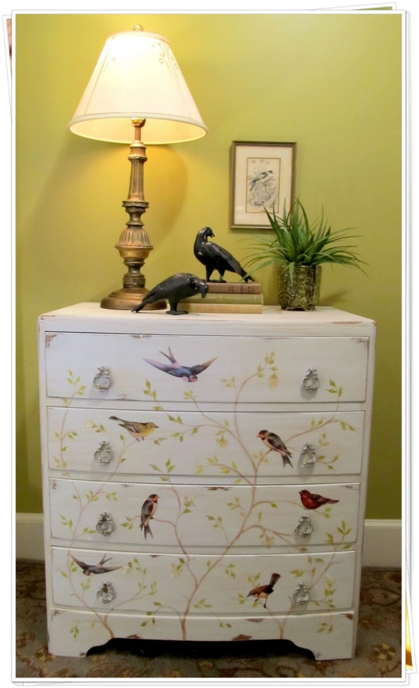 relooker un meuble ancien avec du papier peint