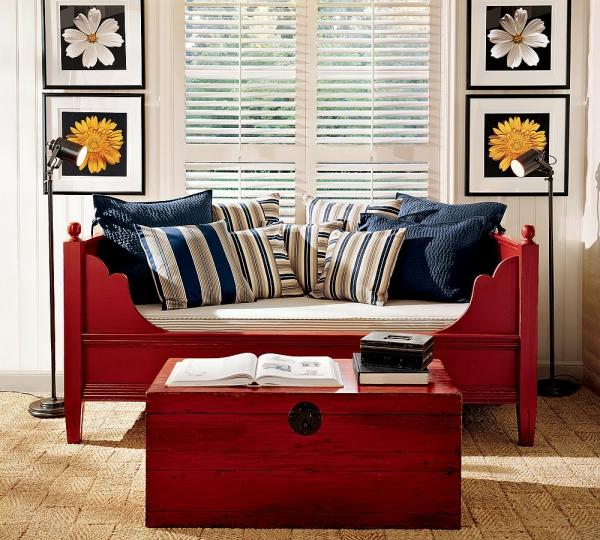 relooker un meuble ancien canapé et table basse
