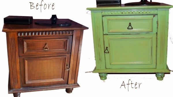 relooker un meuble ancien commode avant et après
