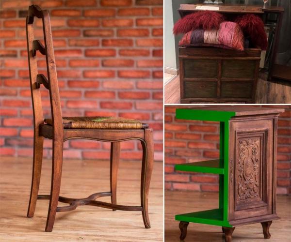 relooker un meuble ancien table, chaise et commode