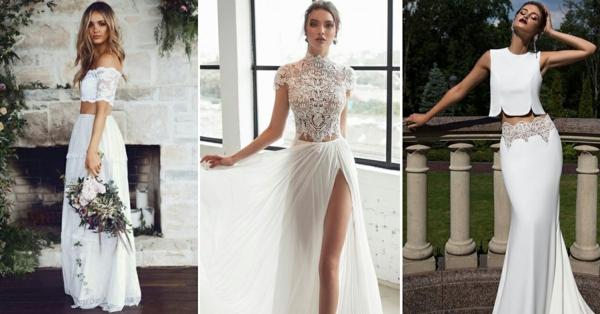 robe de mariée 2019 robe dépareillée