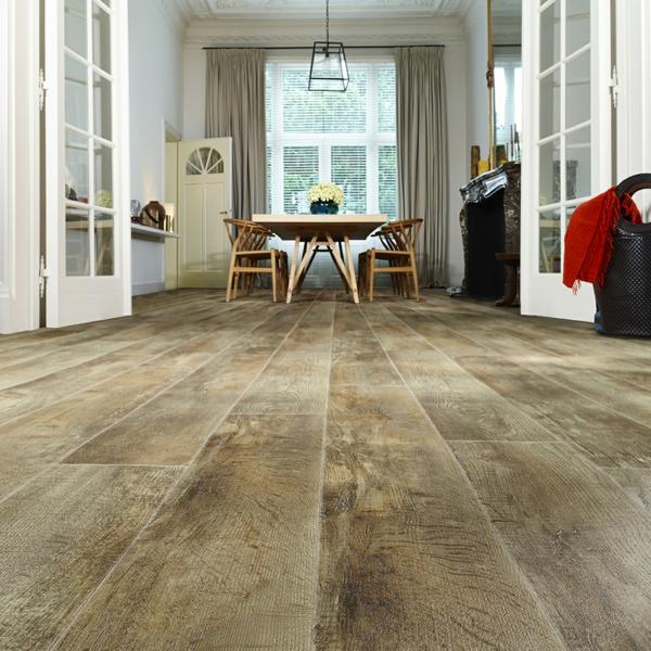 Revêtement sol lino imitation bois