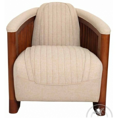 aménagement intérieur fauteuil club cuir beige antibes