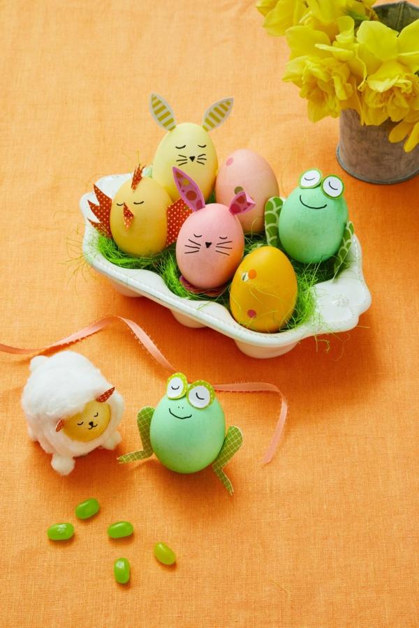 animaux façons créatives de décorer un œuf de Pâques