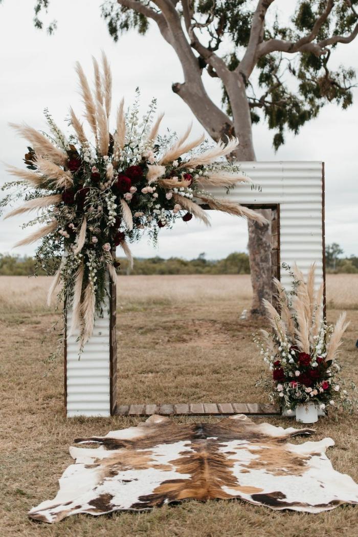 arche mariage herbe de la pampa