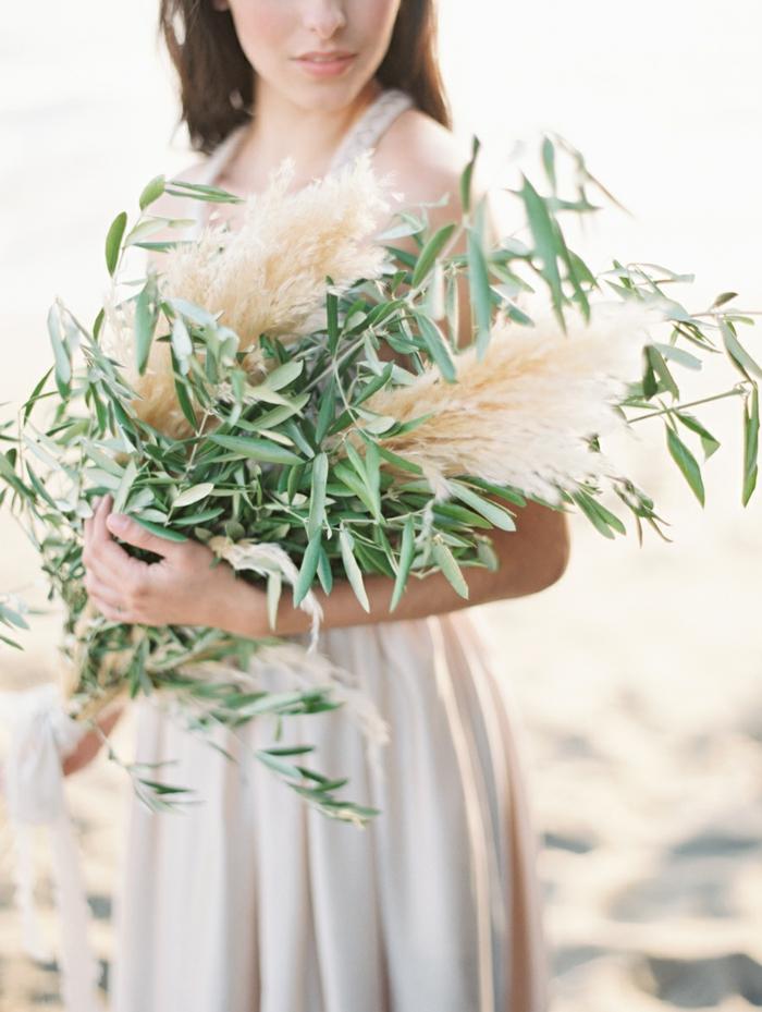 bouquet avec herbe de la pampa