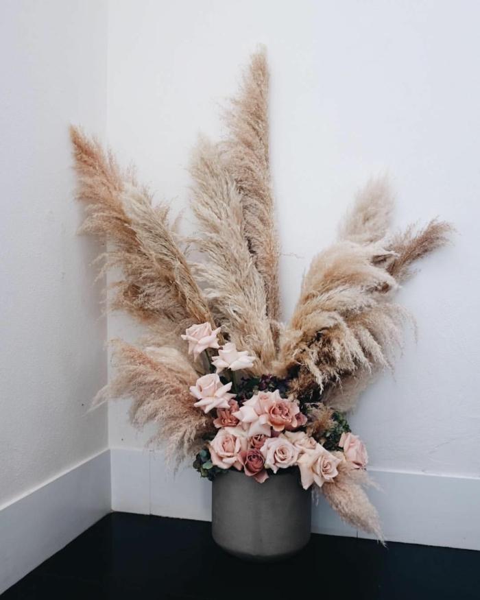 bouquet herbe de la pampa