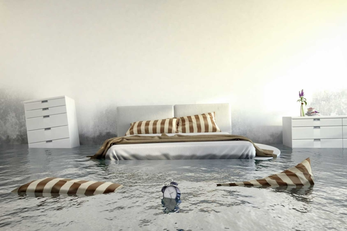 chambre à coucher assurance dégâts des eaux