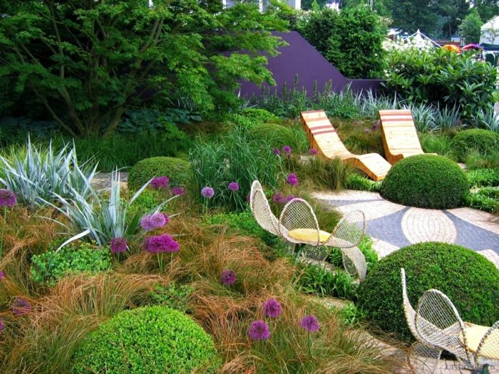 coin détente jardin chaise longue
