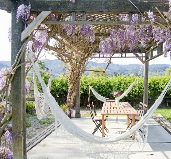 coin détente jardin hamac et pergola