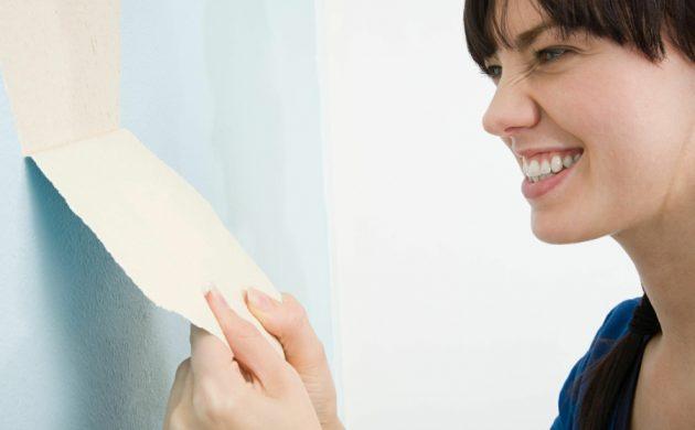 décoller du papier peint