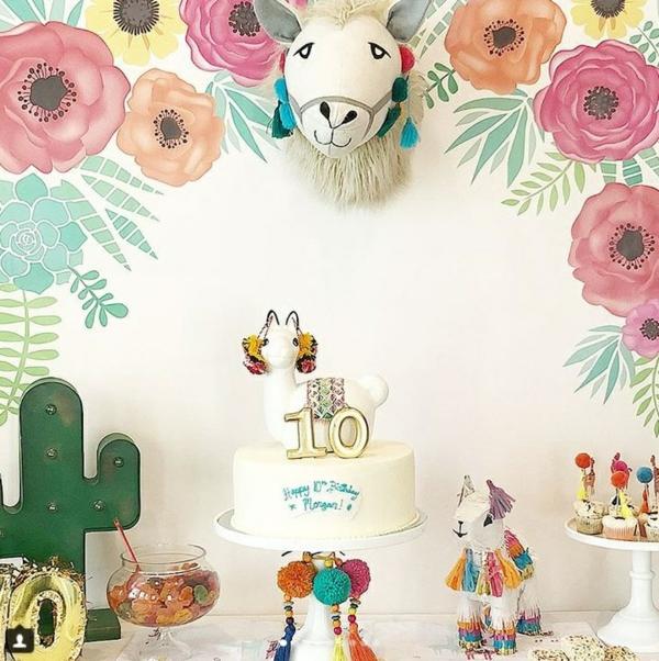 déco lama thème d'anniversaire