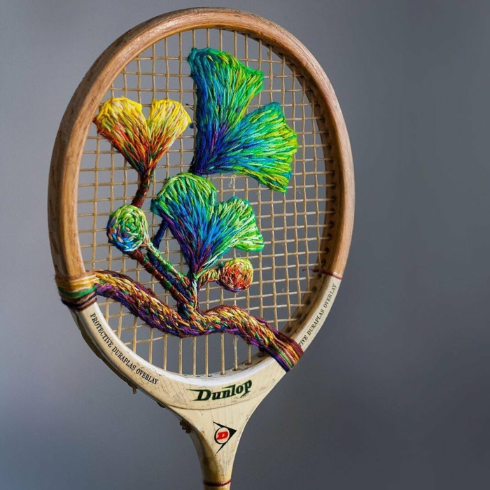 déco magnifique raquette de tennis