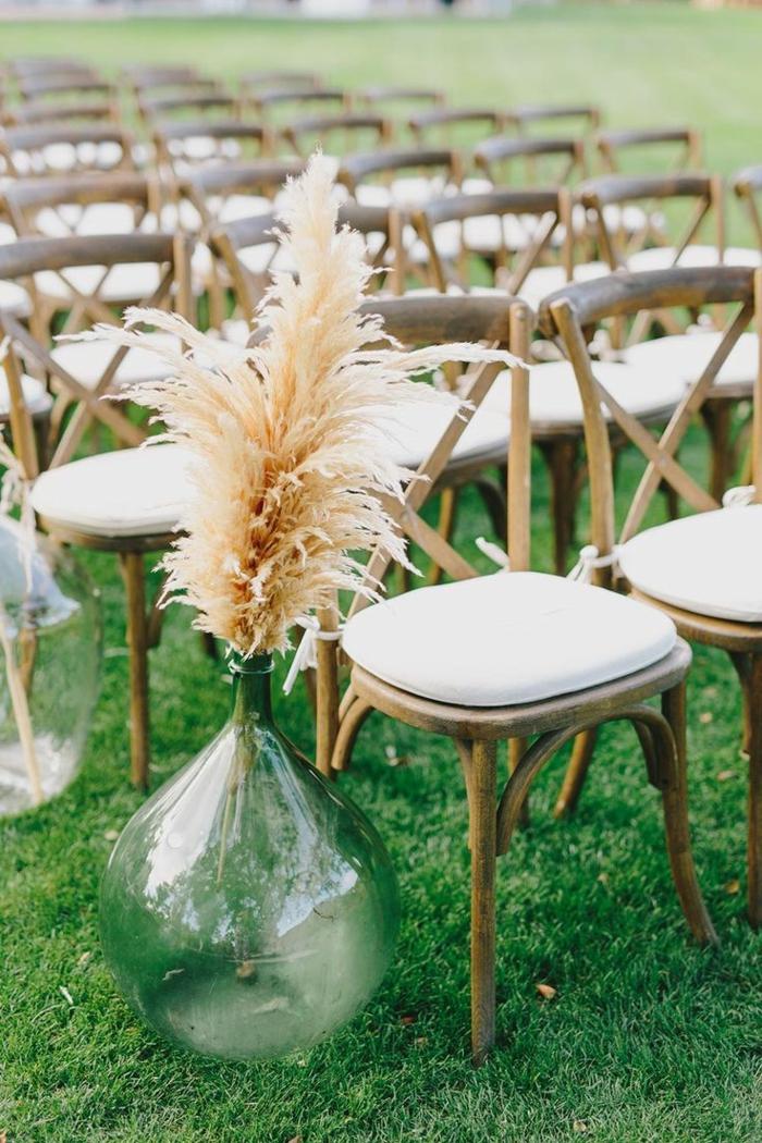 déco mariage avec herbe de la pampa