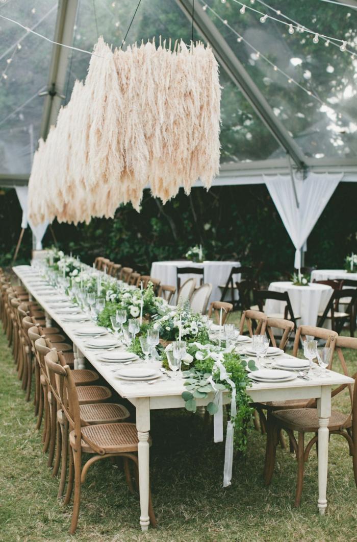 déco mariage sublime avec herbe de la pampa