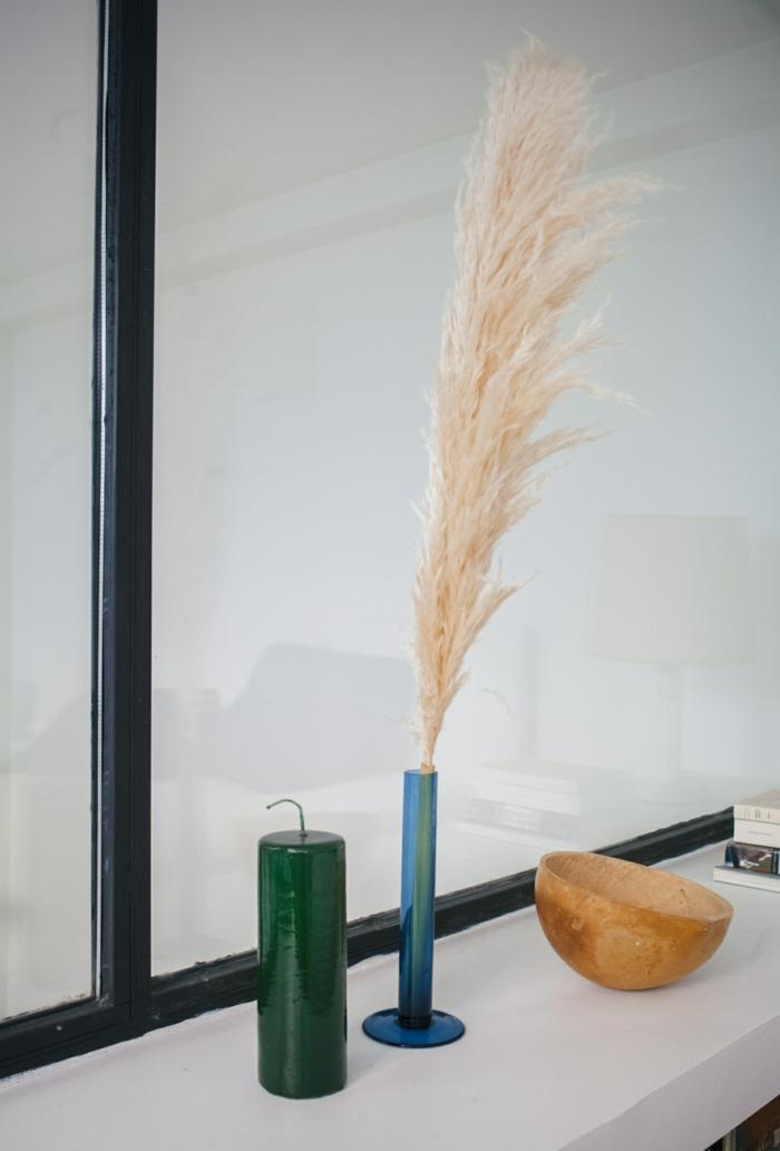 déco moderne avec herbe de la pampa