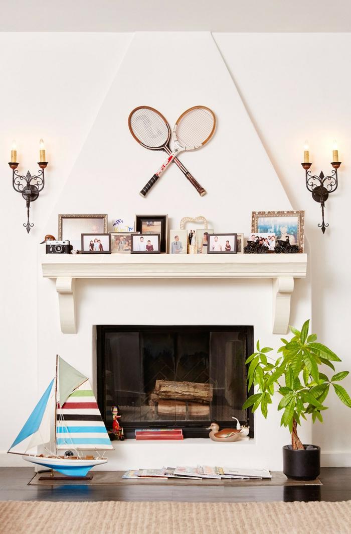 déco murale idée avec raquette de tennis