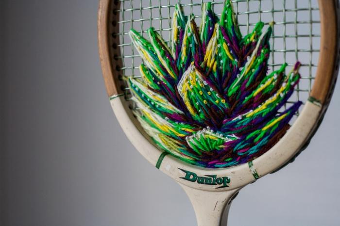 déco pour la raquette de tennis
