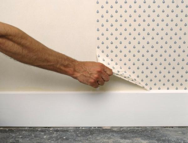 décoller du papier peint à sec