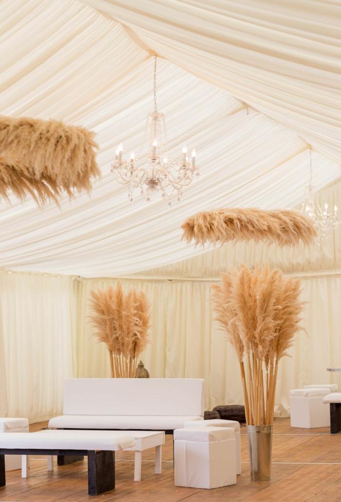 décoration d'intérieur herbe de la pampa