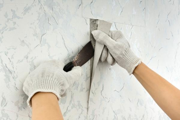 déterminer le type de mur décoller du papier peint