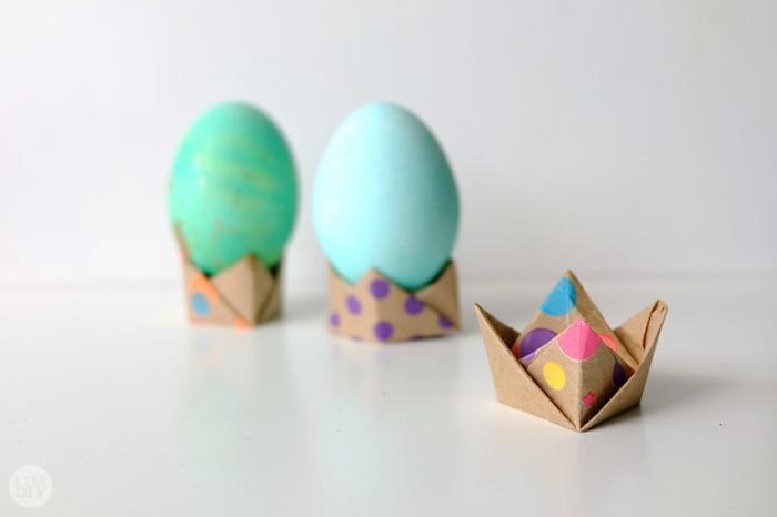diy coquetier origami