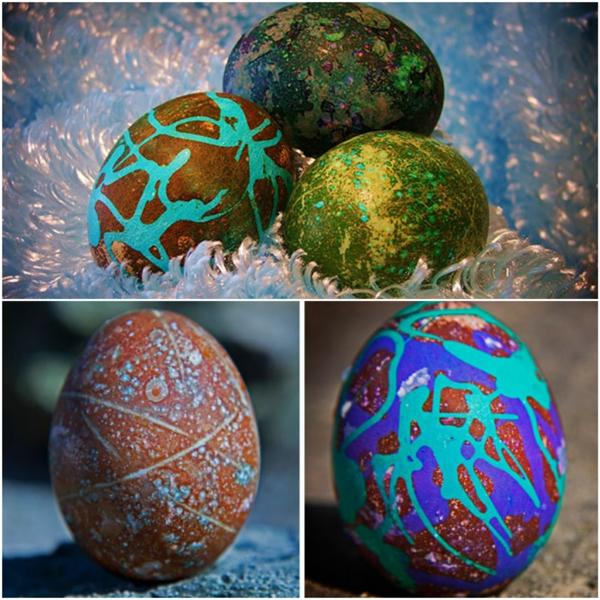 façons créatives de décorer un œuf de Pâques peintures de couleurs différentes