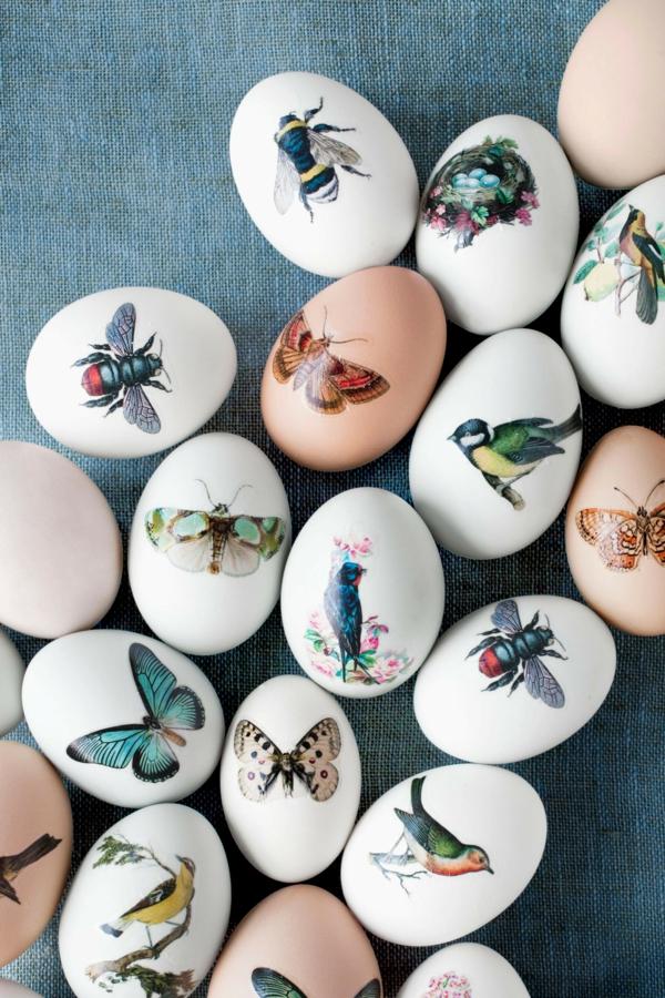 façons créatives de décorer un oeuf de pâques stickers décoratifs