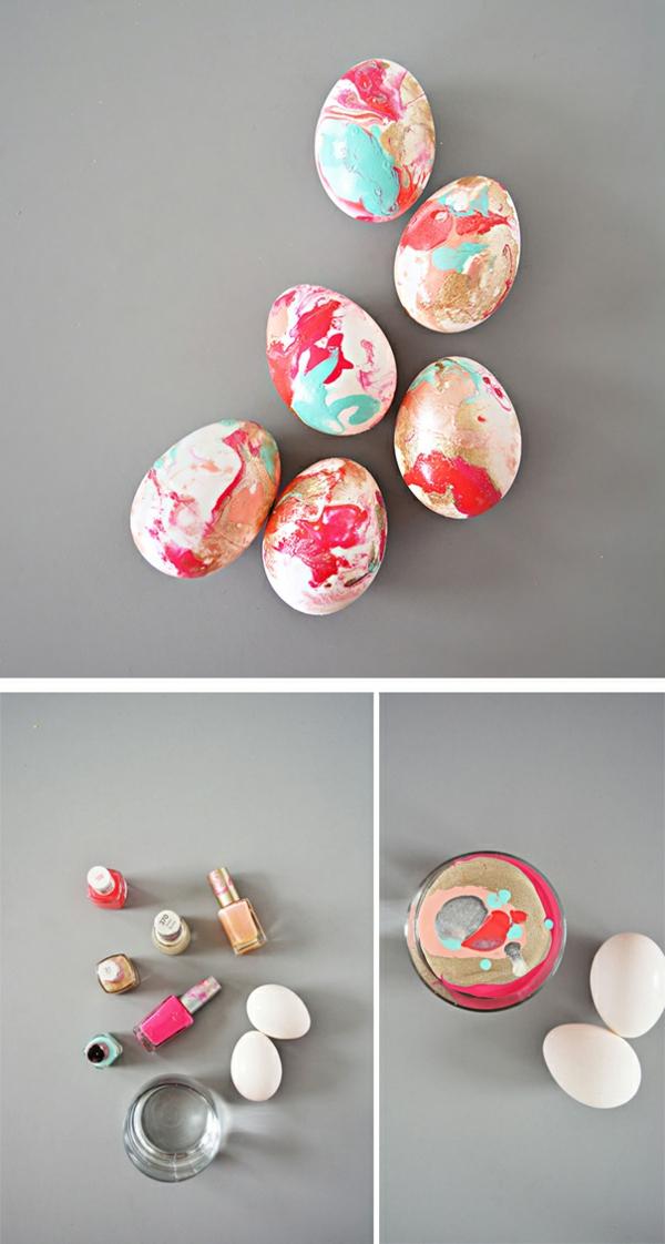 façons créatives de décorer un œuf de Pâques vernis à ongles