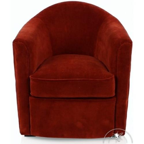 fauteuil club velours rouge fumoir style classique