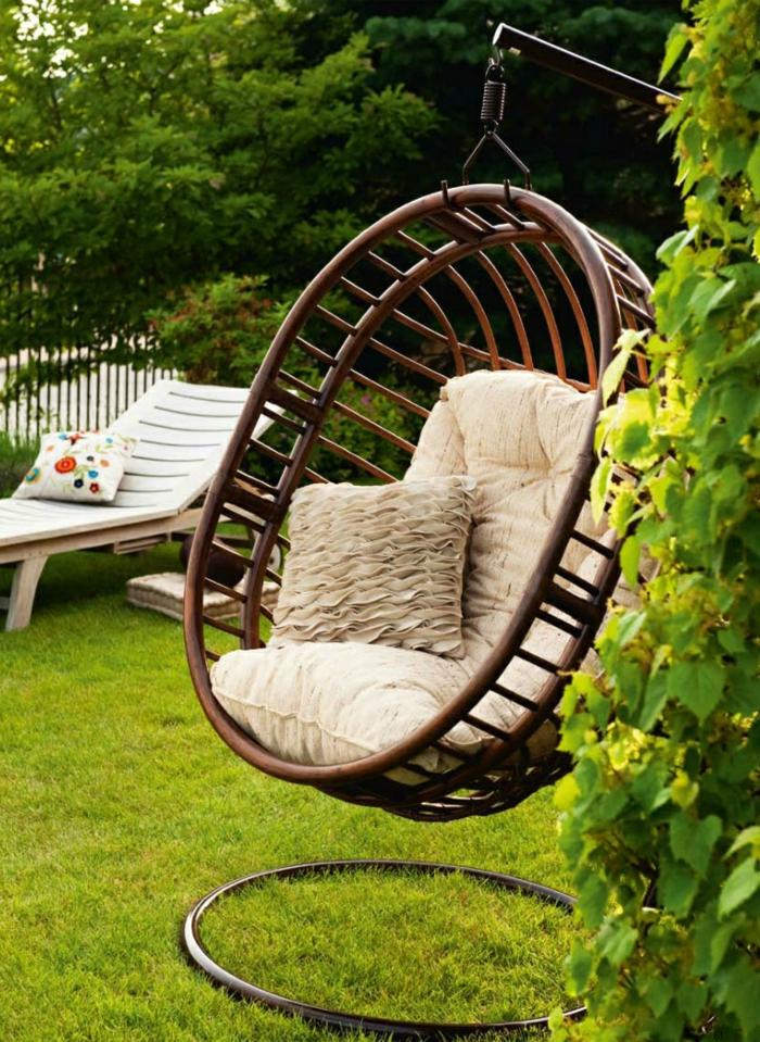 fauteuil suspendu meuble pour un coin détente jardin